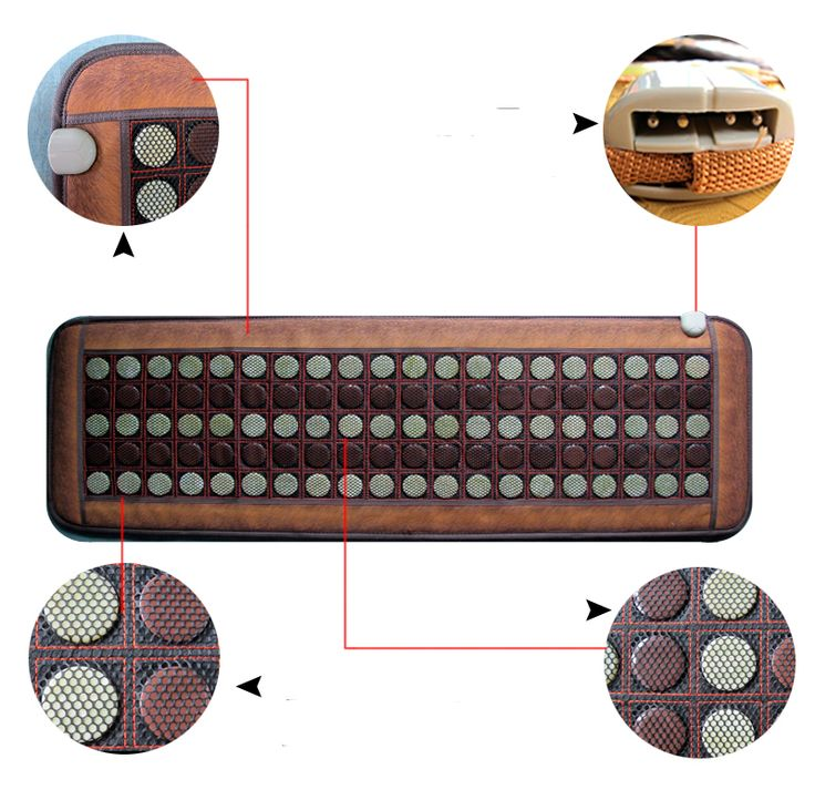 2016 Massage Electric Tourmaline Heating Mattress Jade Massage Cushion Healthy Heating Office Sofa Cushion For Sale 50*150CM