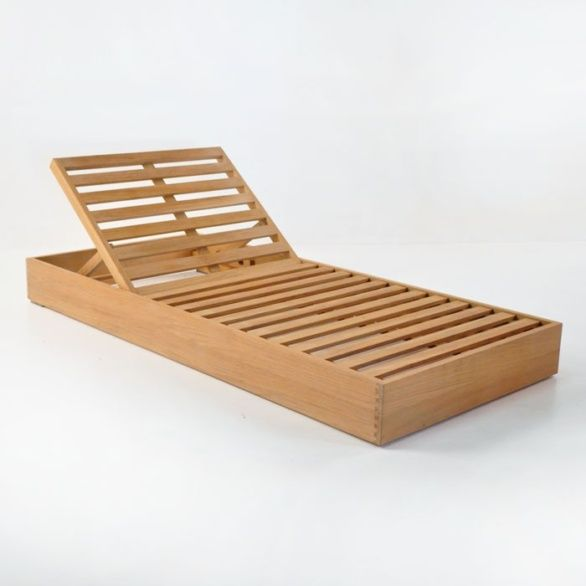 teak sun lounger without cushion