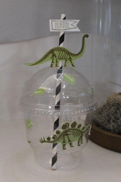 """Geschenkbecher """"Dino"""" - Stampin Up! von Die Fräuleins Krims & Krams auf DaWanda.com"""