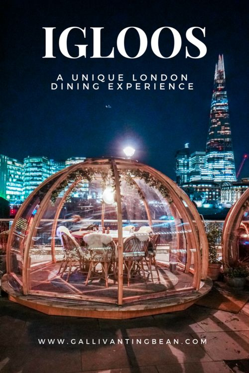 London Igloos Dining Experience
