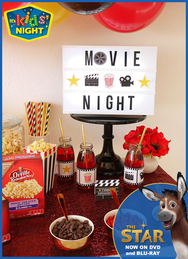 It's a kids night movie night! Stop by your favorite Walmart to pick up all the essentials. #TheStarMovie