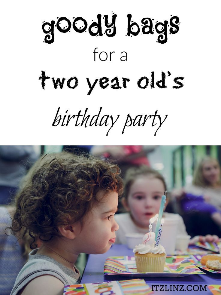 Goody Bags for a Two Year Old's Birthday Party | Toddler Party Favor Ideas
