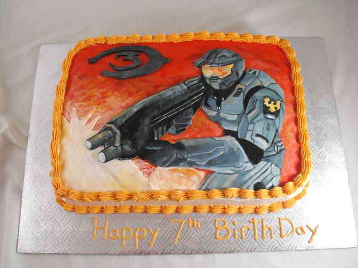 halo cakes for boys   halo cake this cake was made for a boys birth day and halo is his ...