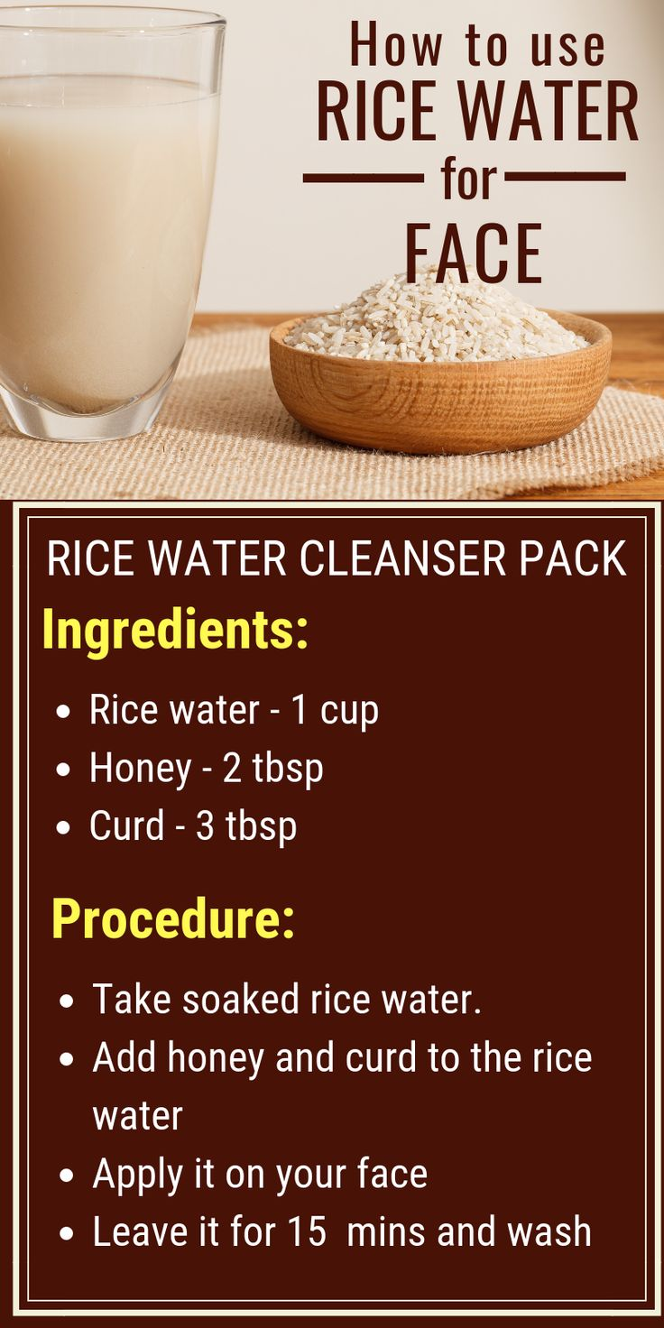 Rice water as face cleanser to get clear flawless skin naturally