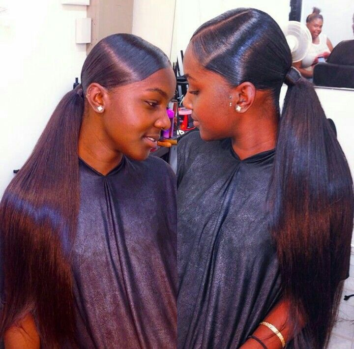 269 best images on pinterest black girls hairstyles another side part low ponytail pmusecretfo Choice Image