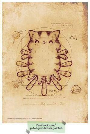 El gato de Vitrubio. Gatonardo Da Vinci. Más