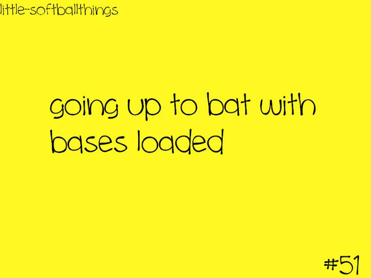 little softball things || all the pressure is on you to make a good hit and bring the girl on 3rd … home