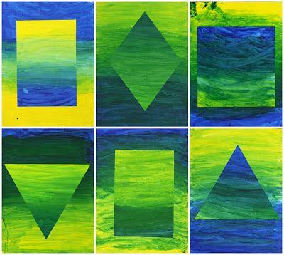 art color gradient lesson with primary colors 4th/5th Martijn Schuppers erbij... mooie uitleg met wat voorbeelden en dan twee werken maken en die op elkaar plakken.