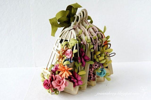 W Kartkowym Zaciszu: Kwiatuszek / Little Flower / Bird house mini