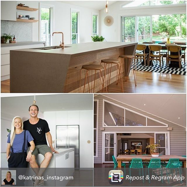 Repost from @katrinas_instagram  I wanted to share photos from the house Kyal and Kara renovated and then sold in 2015 at auction. You may have seen these pics before but I just love the kitchen so thought I would share it again! Thanks to Kara for sending me the photos and a blurb about their journey Link in profile@kyalandkara
