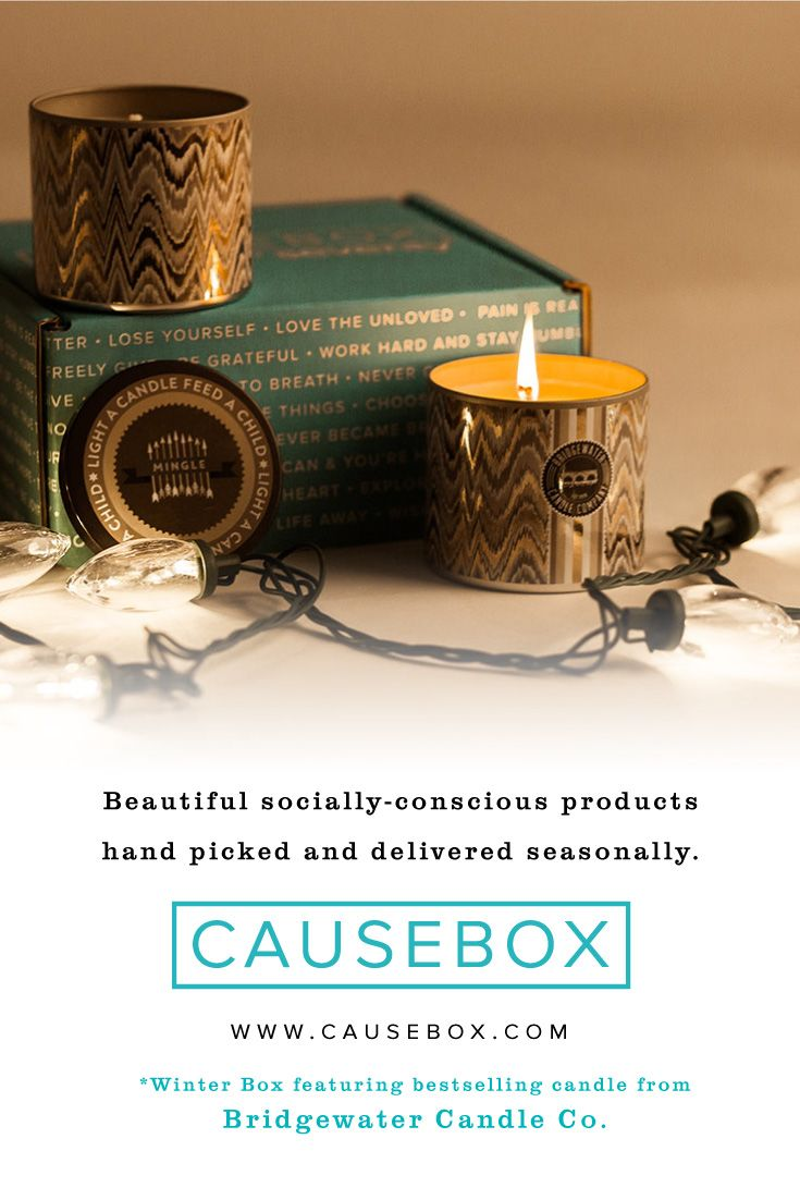 Bridgewater Candles has been able to provide over 5 million meals to children in international orphanages! Every Winter CAUSEBOX has a Bridgewater Sweet Grace Mingle Candle inside – their best selling scent that provides meals to orphanages! » http://causebox.com