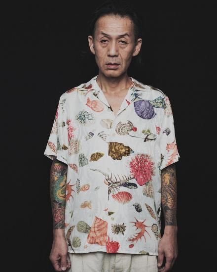 SHORT SLEEVE ALOHA SHIRT [岡重 OKAJU] 貝づくし文様 THE HUNDRED SHELLFISH - MOJAPRODUCTION ONLINE STORE
