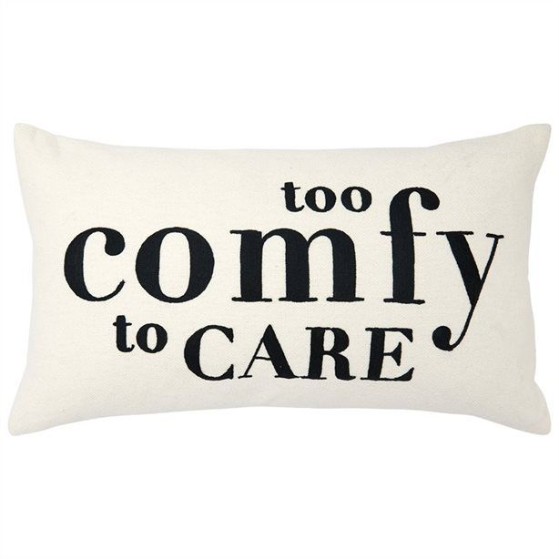 Expressions Too Comfy Pillow Cover 12 X 21 Pillow Covers Pillows Quilted Pillow