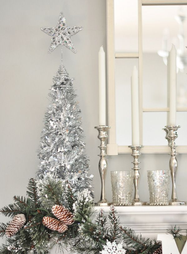 164 best Silver christmas images on Pinterest | Christmas decor ...