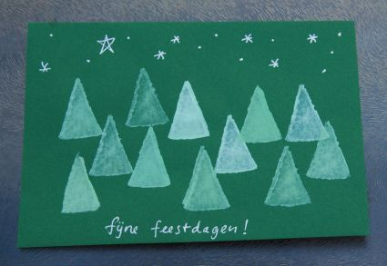 Home made Christmas card - Totally going to make these! (explanation in Dutch only, but maybe a translator works and the photo's are quite clear)