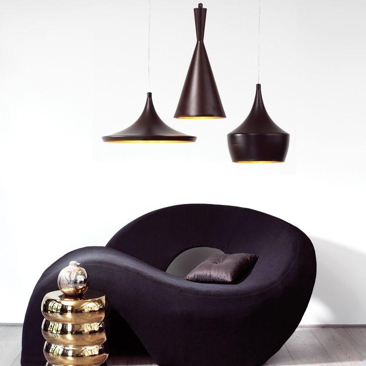 Espresso 1 Light Pendant in Dark Coffee/Gold   Modern Pendants   Pendant Lights   Lighting