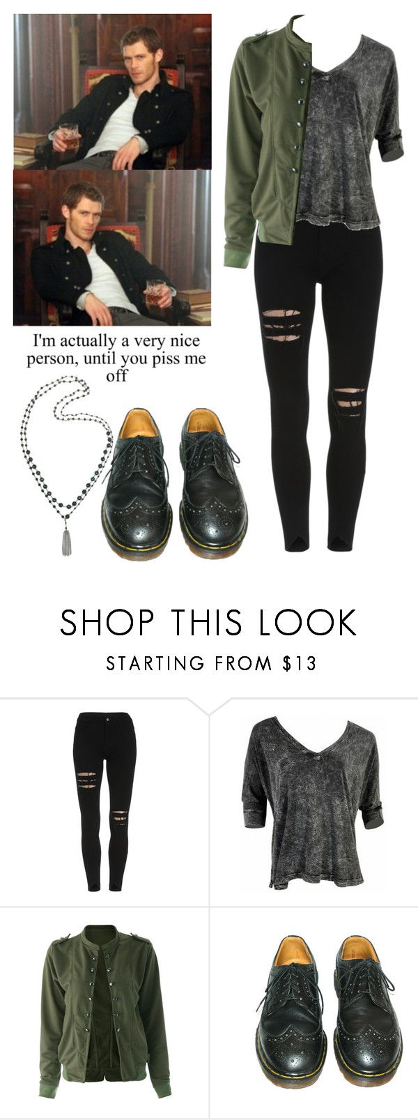 """""""Klaus Mikaelson - the originals / the vampire diaries / tvd"""" by shadyannon ❤ liked on Polyvore featuring Gypsy05, Dr. Martens and Rosantica"""