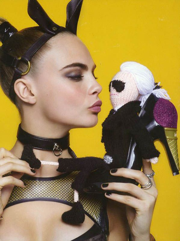Cara Delevingne is A Shoe Vixen for Karl Lagerfeld In Melissa Magazine Winter 2013