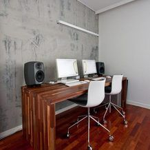Фотография: Кабинет в стиле Лофт, Интерьер комнат, рабочий стол, современный стол, как выбрать рабочий стол, примеры рабочих столов, многофункциональные столы, складной стол, стол для домашнего офиса, рабочее пространство – фото на InMyRoom.ru