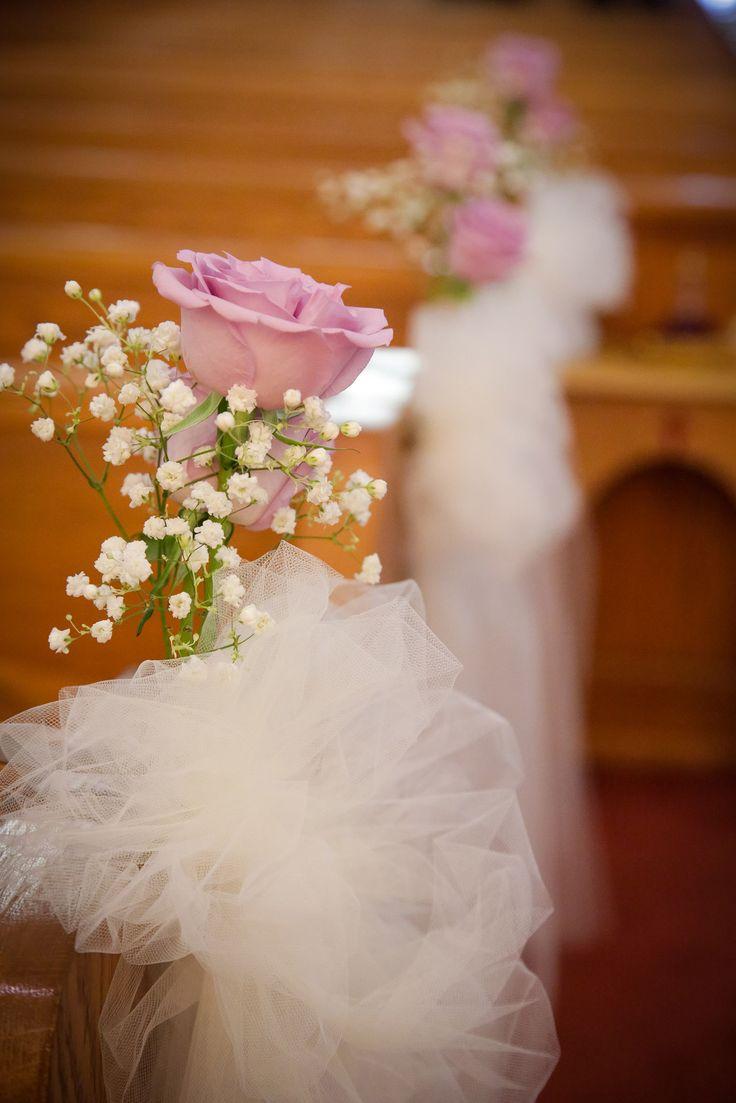 Pink Rose Babys Breath Aisle Decoration Wedding