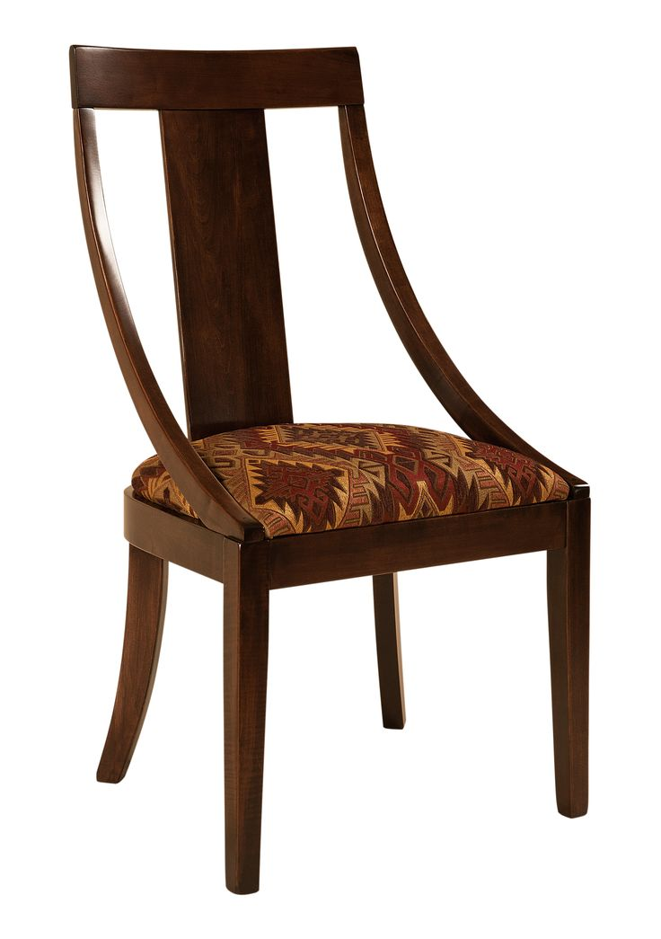 The Georgetown Dining Chair Is Shown In Brown Maple With A Morning Star Fabric This