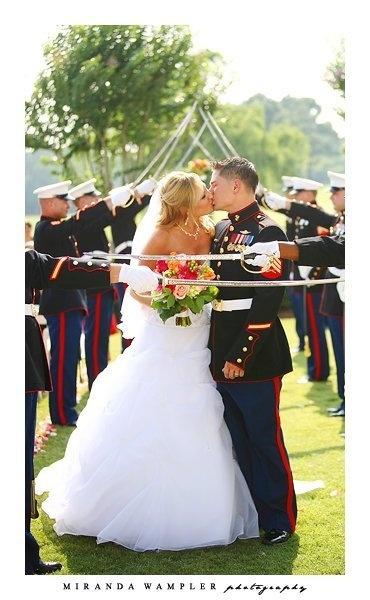 Sword detail. Marine Corps Wedding