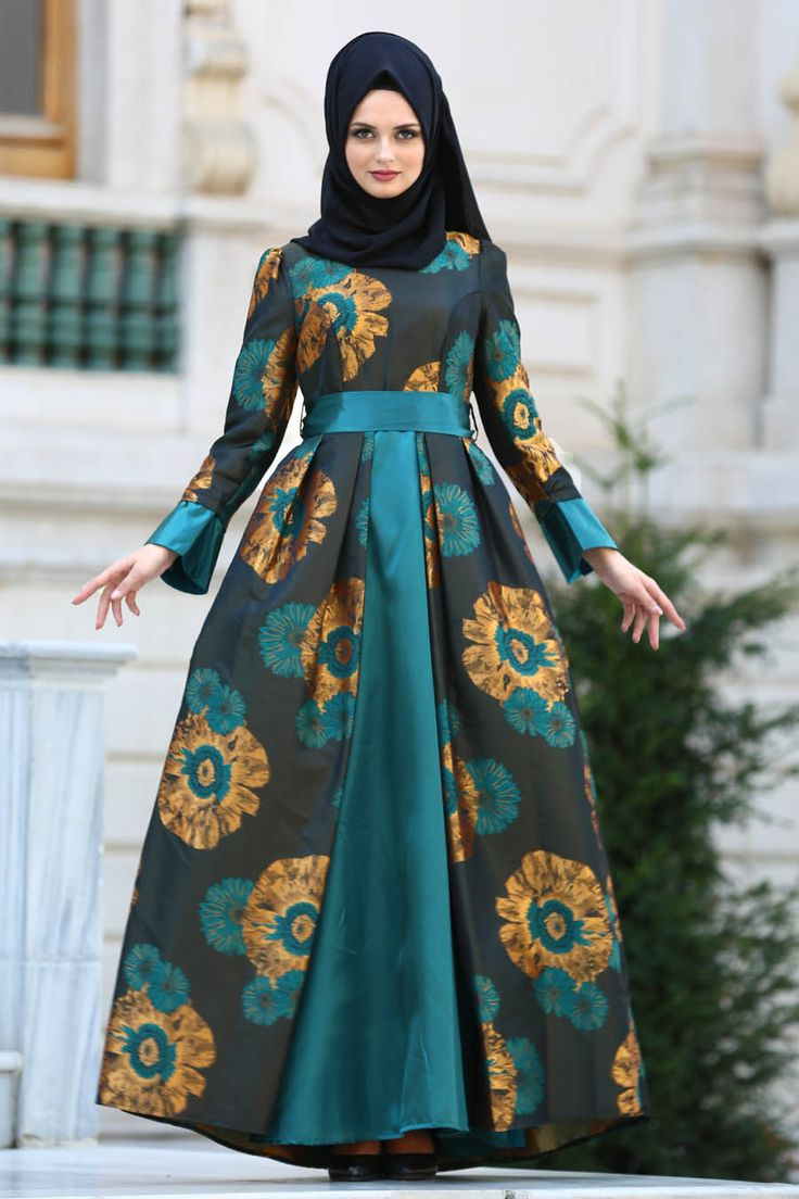 2018 New Season Evening Dress - EVENING DRESS - PETROL GREEN EVENING DRESS 24680PM