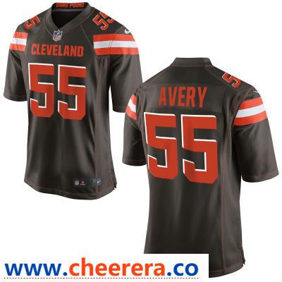 a4d507b1476 Men s Cleveland Browns  55 Genard Avery Brown Team Color Stitched NFL Nike  Game Jersey
