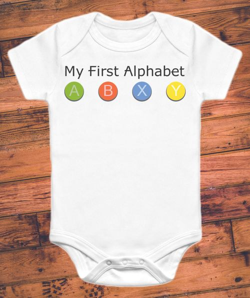 Xbox parents are going to love this gamer onesie. Long before they learn their ABCs, your little guy or gal can sport the run, walk, jump, and shoot that really matters. This funny onesie is great for