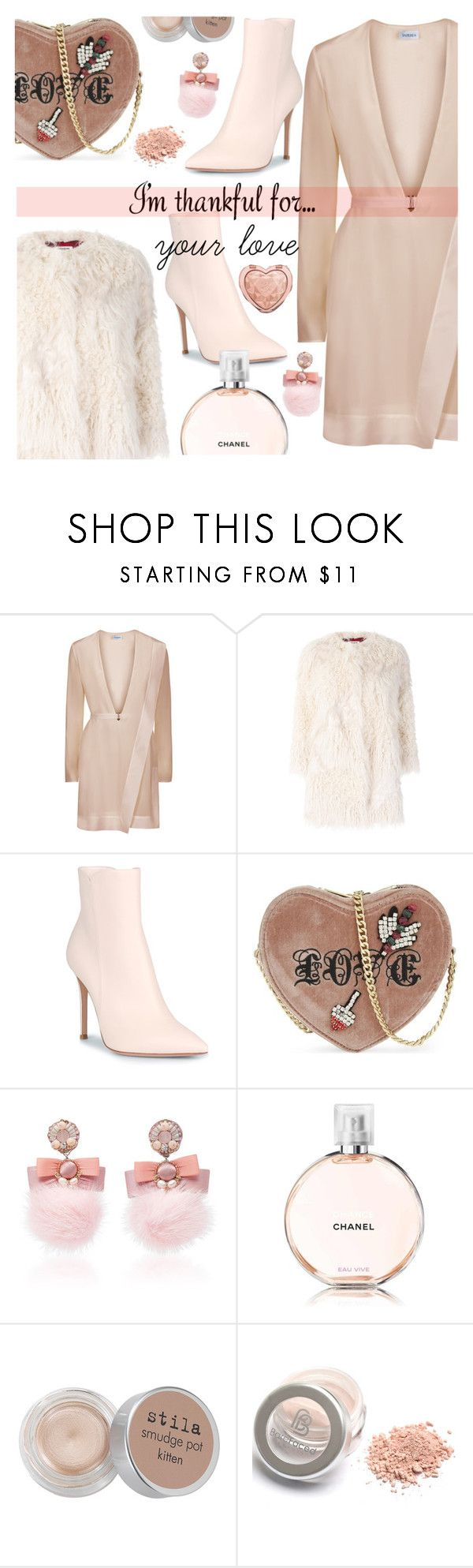 """""""I'm thankful for your love"""" by freshprincesse ❤ liked on Polyvore featuring La Perla, Zadig & Voltaire, Gianvito Rossi, Kurt Geiger, Ranjana Khan, Chanel, Stila and Too Faced Cosmetics"""