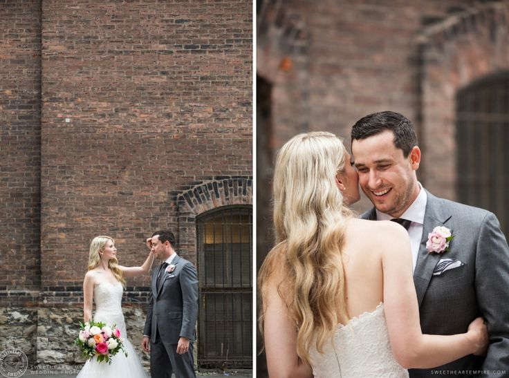 The photo session is a wonderful time for those in-between moments of intimacy and joy on the wedding day. Berkeley Fieldhouse Wedding, Toronto Wedding Photographer. #sweetheartempirephotography #berkeleyevents