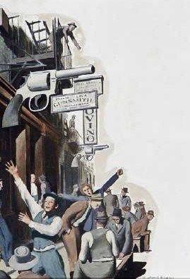 """Robert Riggs (American artist, 1896–1970)  """"The Gun Shop"""""""