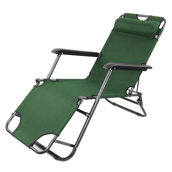 Best 2 X Folding Reclining Garden Chair Outdoor Sun Lounger Deck Camping Beach  Lounge   Green Pictures Gallery