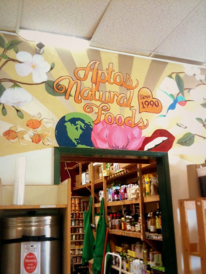 Aptos Natural Foods is all about local foods and products, a beautiful local gem!  Find them at: http://aptosnaturalfoods.wix.com
