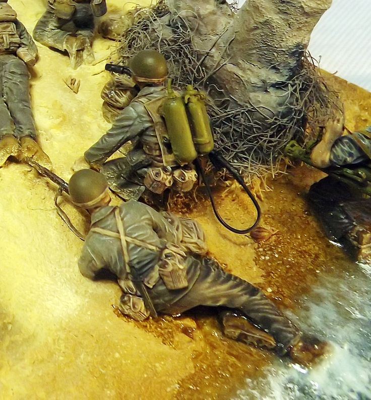 """Beach Head-Leyte 1944"" 1/35 scale diorama by Terence Young"