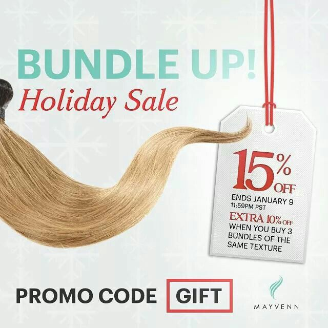 Holiday Hair Sale Shop @ http://hairbyhaley.mayvenn.com