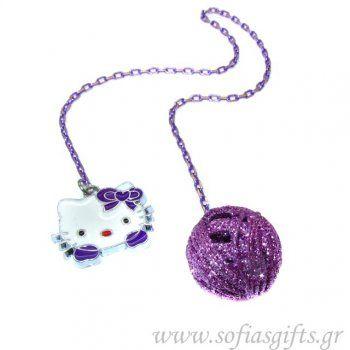 Χειροποίητος σελιδοδείκτης Hello Kitty Purple Glamour - Είδη σπιτιού και χειροποίητες δημιουργίες   Σοφία