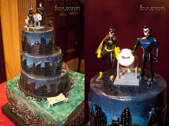 batman and batgirl wedding cake topper amp seth s batgirl and nightwing comic book 11113