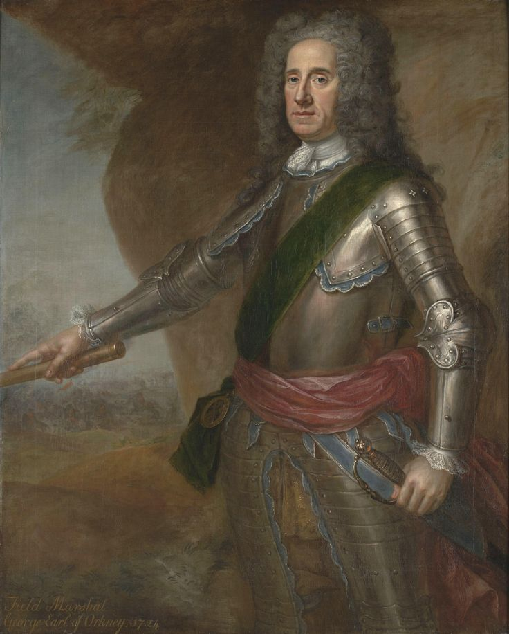 George Hamilton, 1st Earl of Orkney:  Field Marshal George Hamilton, 1st Earl of Orkney, KT (9 February 1666 – 29 January 1737), styled Lord George Hamilton from 1666 to 1696, was a British soldier and Scottish nobleman and the first British Army officer to be promoted to the rank of field marshal. After commanding a regiment for the cause of William of Orange during the Williamite War in Ireland, he commanded a regiment in the Low Countries during the Nine Years' War. He then led the final…