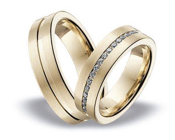 Juego de alianzas de boda para ella y para él
