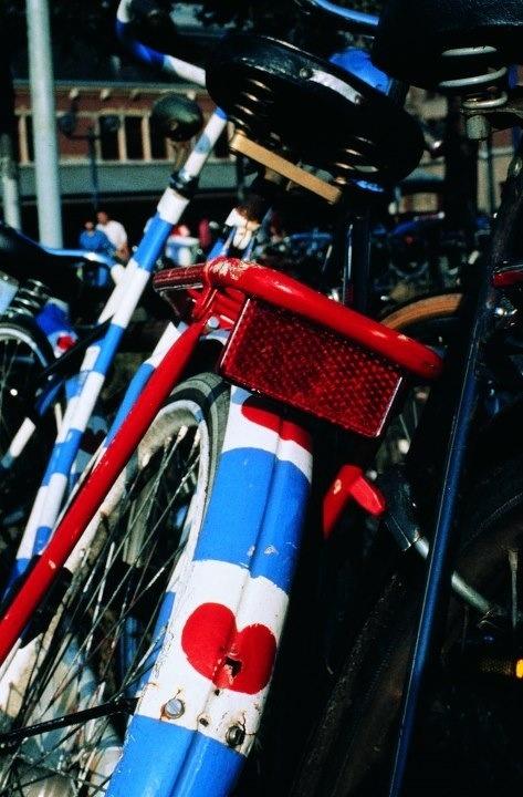 Fryslan boppe.... Friesian Flag bicycle  Friesland Netherlands