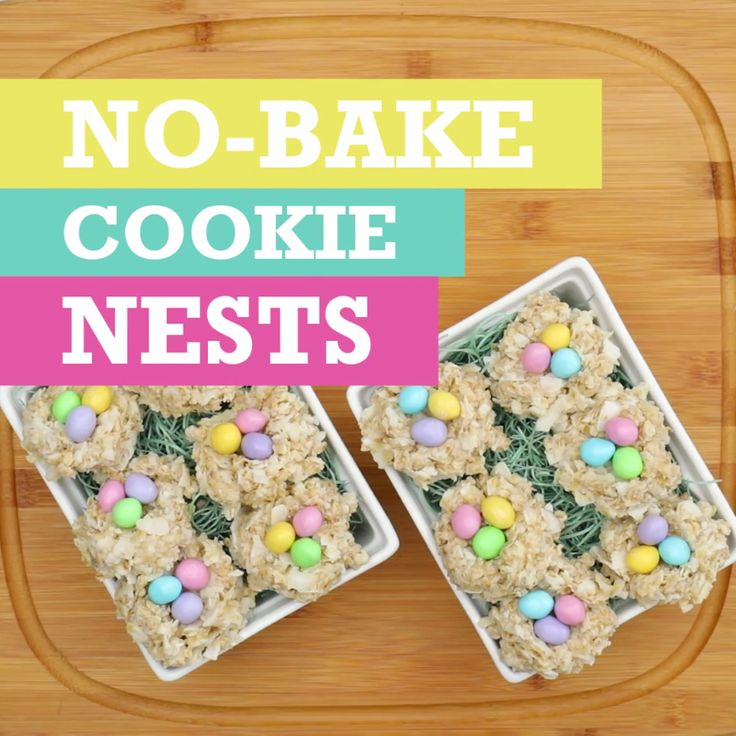 These No-Bake Cookie Nests are a sweet DIY treat perfect for Easter! Add colorful candy eggs for the ultimate festive touch!