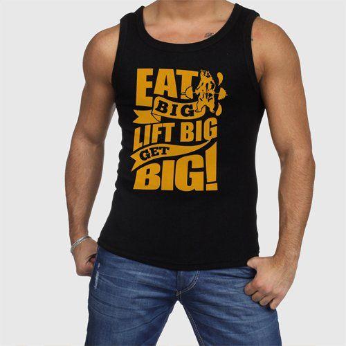 Gym+Motivation+Eat+Big+Lift+Big+Get+Big+Men+Tank+Tops