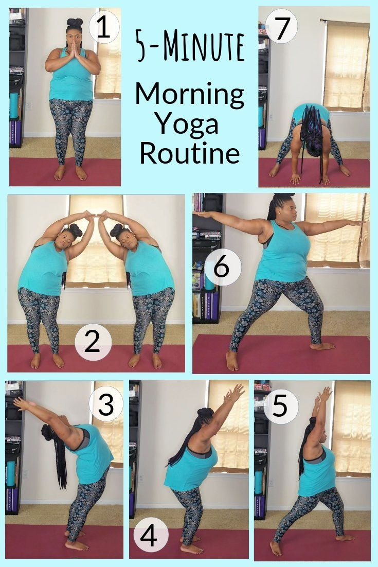 Here Is A Quick 5 Minute Morning Yoga Routine To Try At Home Morning Yoga Stretches Morning Yoga Routine Morning Yoga Poses