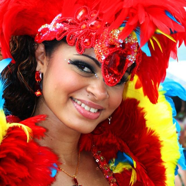 Masquerader. Trinidad Carnival. Tribe Carnival.