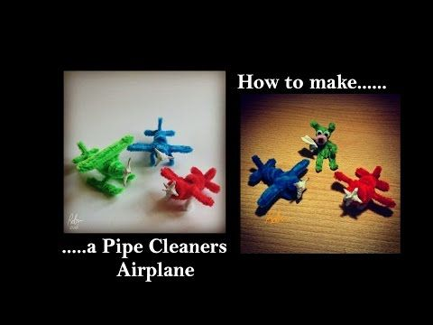 Pijpenragers vliegtuig / Pipe cleaners airplane. Enjoy and have fun. - YouTube
