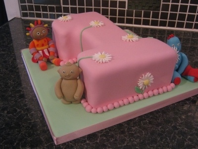Pink Number 1 Cake - In The Night Garden Theme By SamHarrison on CakeCentral.com - www.facebook.com/...