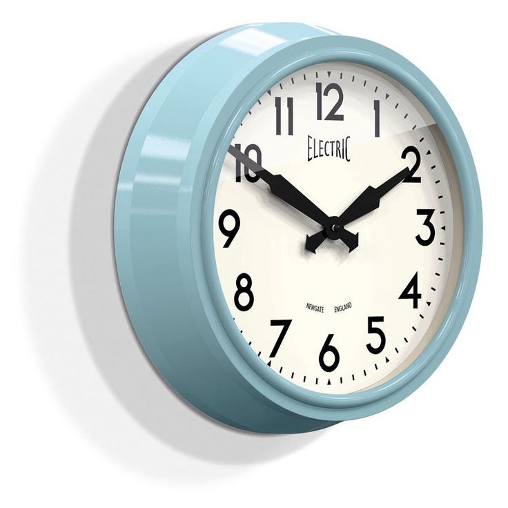 Marvelous This Stunning Iconic Newgate Wall Clock In A Kettle Blue Gloss Finish Is  From The Electric