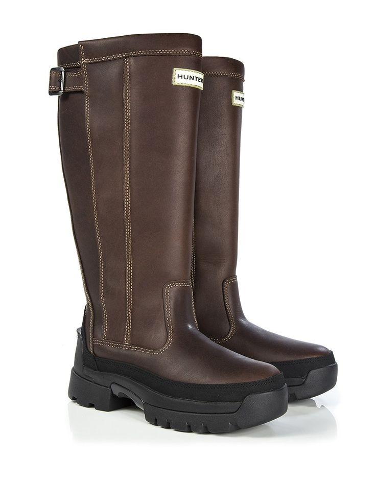 Hunter Men's Balmoral Wellington Boots - Waxed Tan