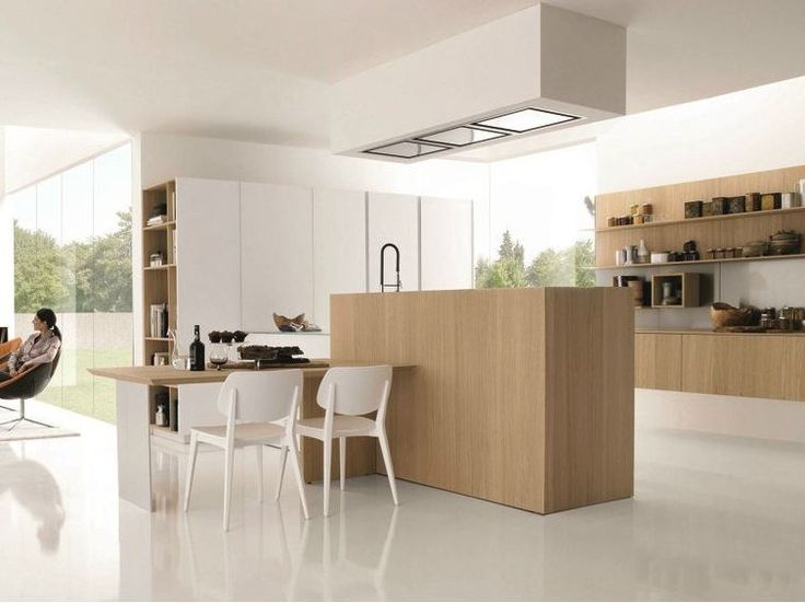 Wooden fitted kitchen KUBIC 3 by Euromobil design Roberto Gobbo